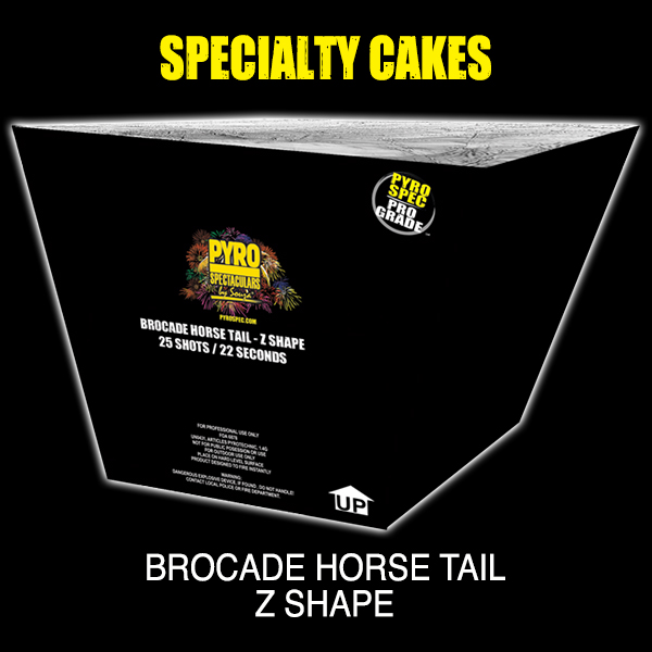 Brocade Horse Tail - Z Shape