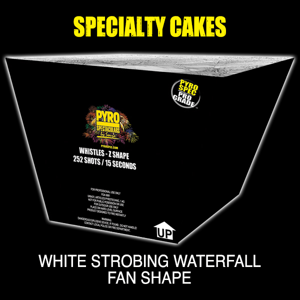 White Strobing Waterfall - Fan Shape