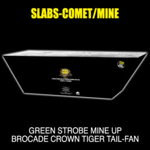 Green Strobe Mine up Brocade Crown Tiger Tail- Fan