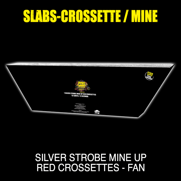 Silver Strobe Mine up Red Crossettes- Fan
